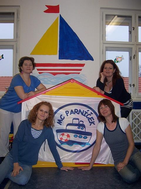 Vedení MC Parníček - zleva doprava: Katka, Miluška, Petra a Radka